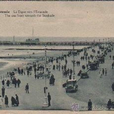 Postales: POSTAL DE BELGICA - OSTENDE - LA DIGUE VERS L,ESTACADE DE ALBERT 45 FOT,A,DOHMEN BRUXELLES. Lote 28853431