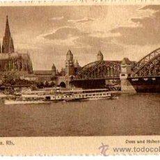 Postales: KÖLN A. RH- DOM UND HOHENZOLLERNBRUCKE. Lote 28984350
