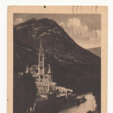 Postales: LOURDES.- LA BASILIQUE ET LE GAVE (C.1935). Lote 29044578