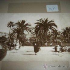 Postales: POSTAL ANTIGUA EN BLANCO Y NEGRO DE NICE, LE JARDIN DU ROI ALBERT.. Lote 29311595