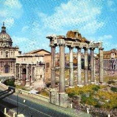 Postales: ROMA FORO ROMANO ESCRITA CIRCULADA SELLO. Lote 29583943