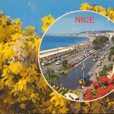 Postales: FRANCIA RECUERDO DE NIZA POSTAL CIRCULADA. Lote 29711051