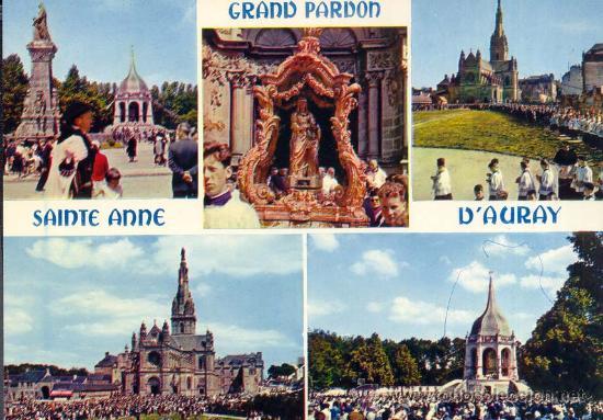 FRANCIA SAINTE ANNE D'AURAY POSTAL CIRCULADA (Postales - Postales Extranjero - Europa)