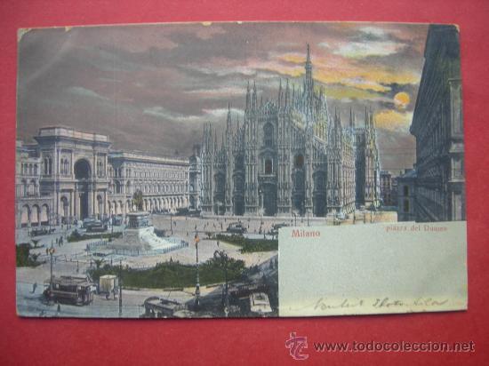 POSTAL ANTIGUA - MILÁN - MILANO - PIAZZA DEL DUOMO - ITALIA (Postales - Postales Extranjero - Europa)
