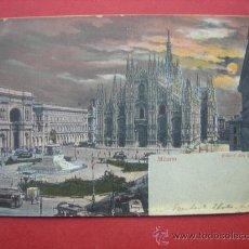 Postales: POSTAL ANTIGUA - MILÁN - MILANO - PIAZZA DEL DUOMO - ITALIA. Lote 29927303