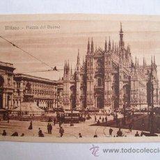 Postales: ANTIGUA POSTAL : PIAZZA DEL DUOMO - MILANO ( MILÁN ) - ITALIA. ED GUSTAVO MODIANO. Lote 30109813