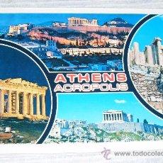 Postales: DESPLEGABLE CON POSTALES DE LA ACROPOLIS DE ATENAS 10 POSTALES. Lote 30113693