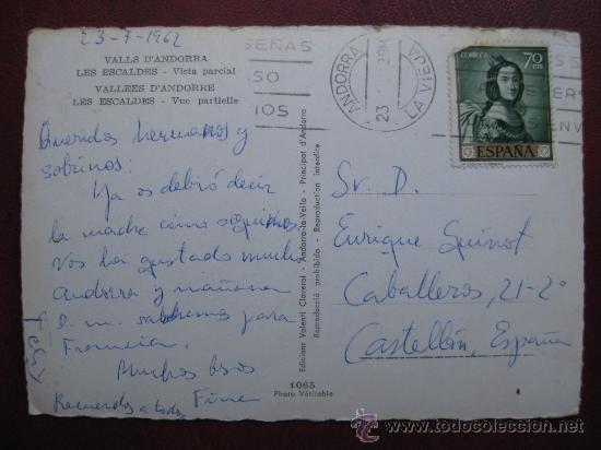 Postales: VALLS D'ANDORRA - LES ESCALDES, VISTA PARCIAL - Foto 2 - 30413480