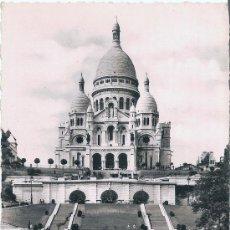 Postales: PARIS - BASILIQUE DU SACRÉ-COEUR DE MONTMARTRE - CIRCULADA 1954. Lote 30484399