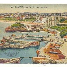 Postales: BIARRITZ .. LE PORT DES PÉCHEURS .. CIRCULADA. Lote 30577383