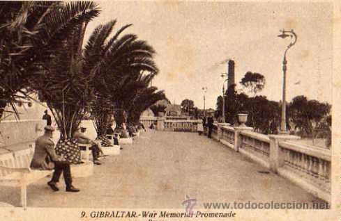 GIBRALTAR Nº 9 WAR MEMORIAL PROMENADE PASEO L. ROISÍN FOTÓGRAFO SIN CIRCULAR (Postales - Postales Extranjero - Europa)