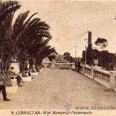 Postales: GIBRALTAR Nº 9 WAR MEMORIAL PROMENADE PASEO L. ROISÍN FOTÓGRAFO SIN CIRCULAR . Lote 30584521