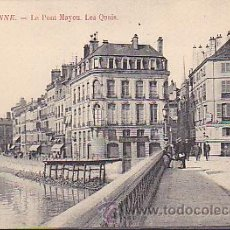 Postales: POSTAL BAYONNE PAIS VASCO FRANCES LE PONT MAYOU LES QUAIS. Lote 30675412