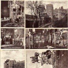 Postales: LONDRES - WINDSOR CASTLE - 12 POSTALES NUEVAS S/C. LOTE TAL FOTO - AÑOS 40. Lote 30737273