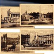 Postales: ROMA - 5 POSTALES VISTAS CIUDAD - AÑOS 40 - S/C.. Lote 30737444