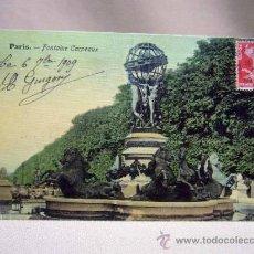 Postales: POSTAL, TARJETA POSTAL, FONTAINE CARPEAUX, SELLADA, PARIS, 1909. Lote 31097811