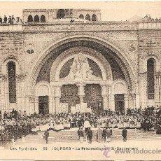 Postales: LOURDES - LA PROCESSION DU ST-SACREMENT. Lote 31108914