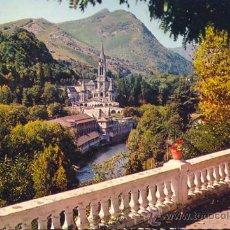 Postales: FRANCIA LOURDES LA BASILICA POSTAL CIRCULADA. Lote 31169283