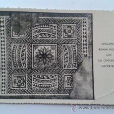 Postales: POSTAL VERULARIUM MOSAICO ROMANO ST. ALBAN INGLATERRA. Lote 31186182