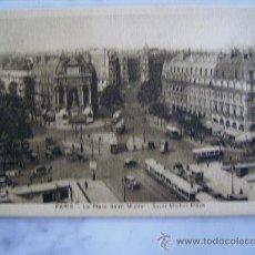 Postales: PARIS,LA PLACE SAINT MICHEL. Lote 31288559