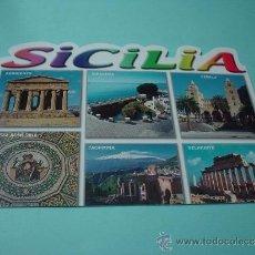 Postales: POSTAL IMÁGENES SICILIA - ITALIA. AGRIGENTO, SIRACUSA, CEFALU`, TAORMINA, SELINUNTE, PIAZZA ARMERINA. Lote 31561521