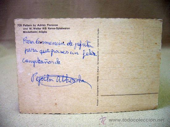 Postales: POSTAL, FOTO POSTAL, TROQUELADA, NIÑOS, ADRIAN FLORENCE, SWITZERLAND - Foto 2 - 31722979
