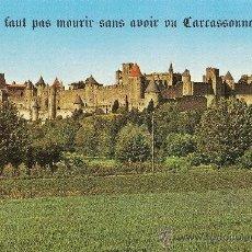 Postales: CARCASSONNE, LA CITÉ VUE DE L'AUDE - AS DE COEUR - SIN CIRCULAR. Lote 31669570