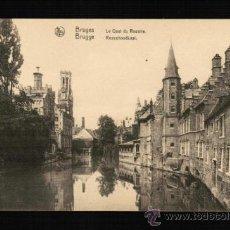 Postales: POSTAL DE BRUGES - LE QUAI DU ROSAIRE - BÉLGICA. Lote 31859528