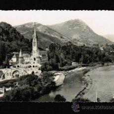 Postales: POSTAL DE LOURDES - LA BASILIQUE ET LE GAVE - ED. P. DOUCET - EDLUX. Lote 31860111