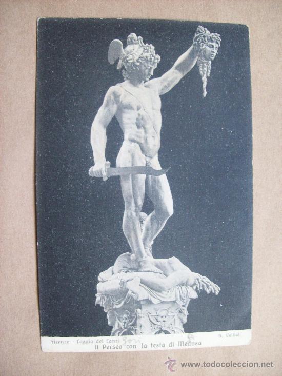 FIRENZE LOGGIA DEI CANZI - IL PERSEO CON LA TESTA DI MEDUSA - 1918 CELLINI (Postales - Postales Extranjero - Europa)