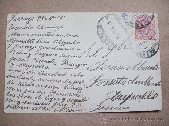 Postales: FIRENZE LOGGIA DEI CANZI - IL PERSEO CON LA TESTA DI MEDUSA - 1918 CELLINI - Foto 2 - 32206722