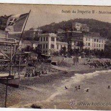 Postales: SALUTI DA IMPERIA II STABILIMENTO BAGNI. ITALIA. ED CARLO UGBES ONEGLIA. . Lote 32229355