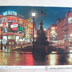 Postales: PICCADILLY CIRCUS AND EROS STATUE BY NIGHT, LONDON. 22 X 16 CM.. Lote 32444862