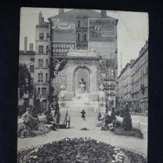 Postales: POSTAL LYON. MONUMENT GAILLETON. ECL. FRANCIA. AÑO 1919.. Lote 32474394