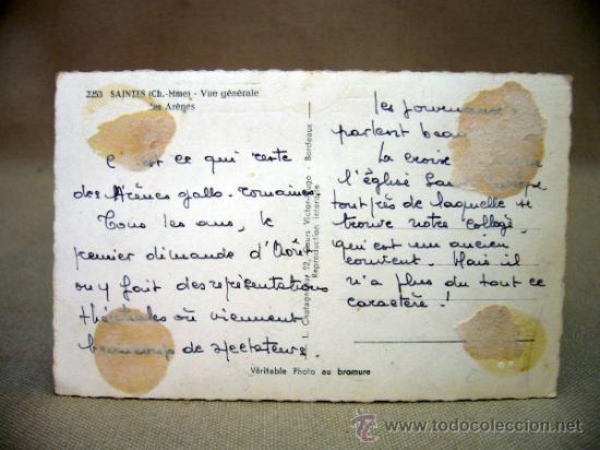 Postales: POSTAL, FOTO POSTAL, SAINTES, LES ARENES, FRANCIA, TROQUELADA - Foto 2 - 32530008