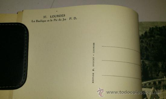 Postales: 10 POSTALES MONASTERIO O GRUTA DE LA VIRGEN DE LOURDES en heliograbado de lujo - Foto 16 - 32649003
