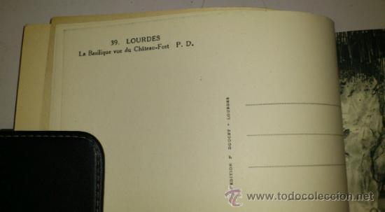 Postales: 10 POSTALES MONASTERIO O GRUTA DE LA VIRGEN DE LOURDES en heliograbado de lujo - Foto 12 - 32649003
