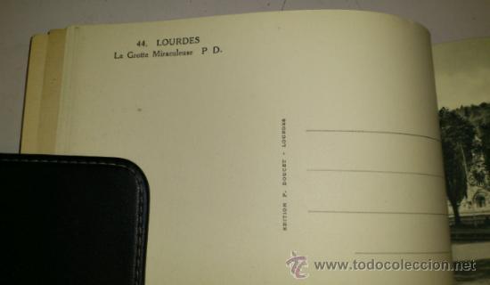 Postales: 10 POSTALES MONASTERIO O GRUTA DE LA VIRGEN DE LOURDES en heliograbado de lujo - Foto 10 - 32649003