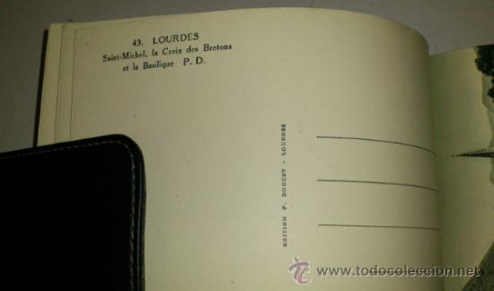 Postales: 10 POSTALES MONASTERIO O GRUTA DE LA VIRGEN DE LOURDES en heliograbado de lujo - Foto 8 - 32649003