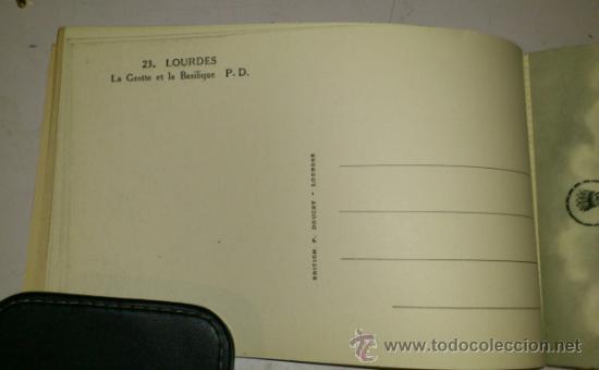 Postales: 10 POSTALES MONASTERIO O GRUTA DE LA VIRGEN DE LOURDES en heliograbado de lujo - Foto 6 - 32649003