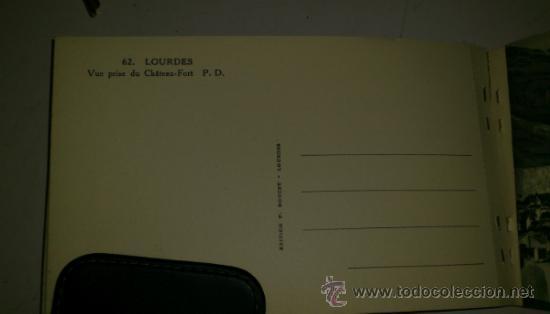 Postales: 10 POSTALES MONASTERIO O GRUTA DE LA VIRGEN DE LOURDES en heliograbado de lujo - Foto 4 - 32649003