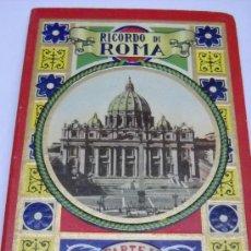 Postales: ITALIA. ROMA 32 VISTAS FOTOGRAFICAS EN ACORDEON LA 1ª UNA PANORAMICA GENERAL. MAPA EN LA CUBIERTA. Lote 32909359