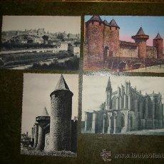Postales: LOTE CUATRO POSTALES CARCASONA / CITE DE CARCASSONNE (FRANCE). Lote 32978740