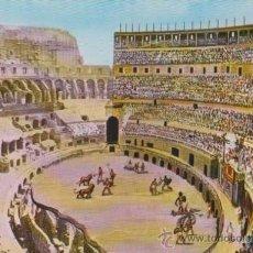 Postales: ROMA. IL COLOSSEO, INTERNO, RICOSTRUZIONE -NO CIRCULADA-.. Lote 33060639