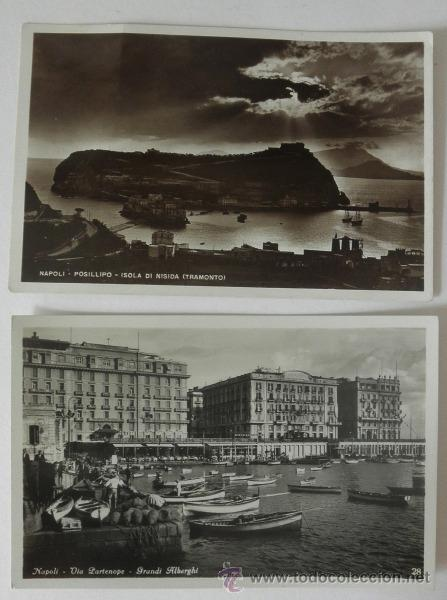 LOTE DE 2 POSTALES ANTIGUAS DE NAPOLES * SIN CIRCULAR (Postales - Postales Extranjero - Europa)