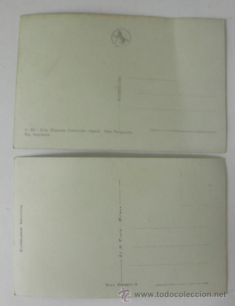 Postales: LOTE DE 2 POSTALES ANTIGUAS DE NAPOLES * SIN CIRCULAR - Foto 3 - 33109699