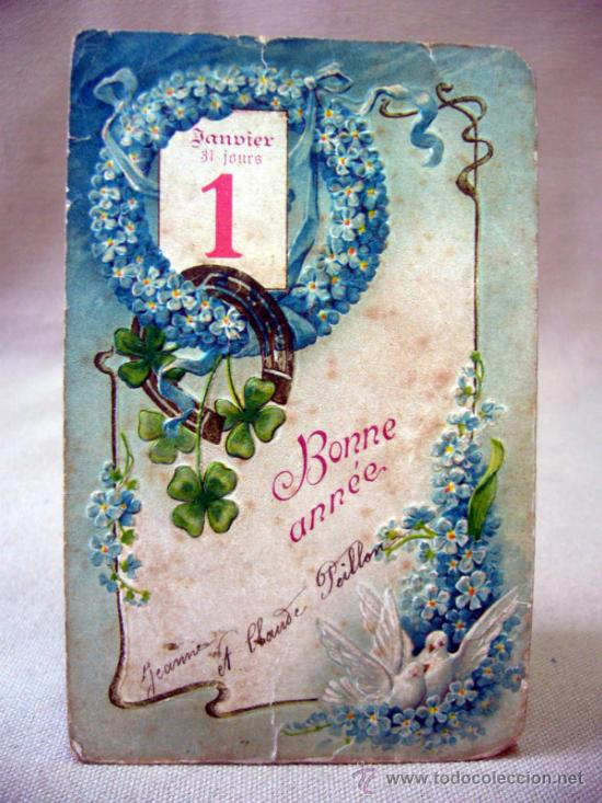 Postal Carta Postal Felicitacion De Año Nuevo Comprar Postales