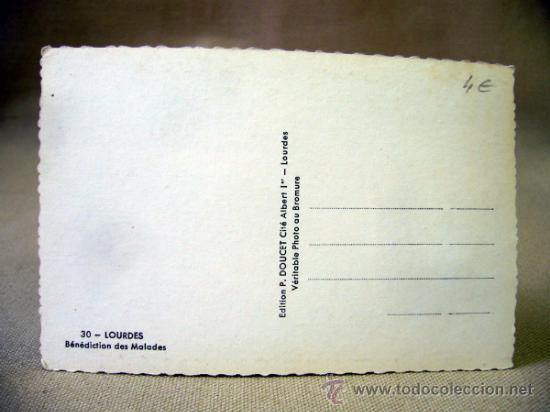 Postales: POSTAL, CARTA POSTAL, LOURDES, FRANCIA, ENFERMOS, TROQUELADA, P. DOUCET - Foto 2 - 33236893