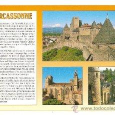 Postales: CARCASSONNE (AUDE), VISTAS DE CARCASSONNE - AS DE COEUR - CIRCULADA. Lote 33313553