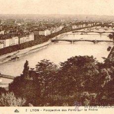 Postales: POSTAL LYON - DES PONTS SUR LE RHÔNE. Lote 33384961